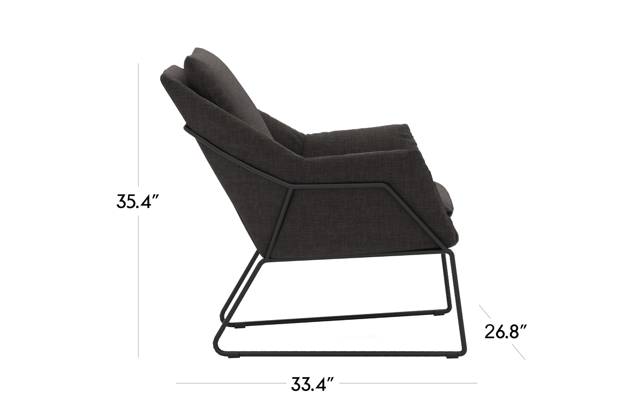 Melana Lounge Chair - Black