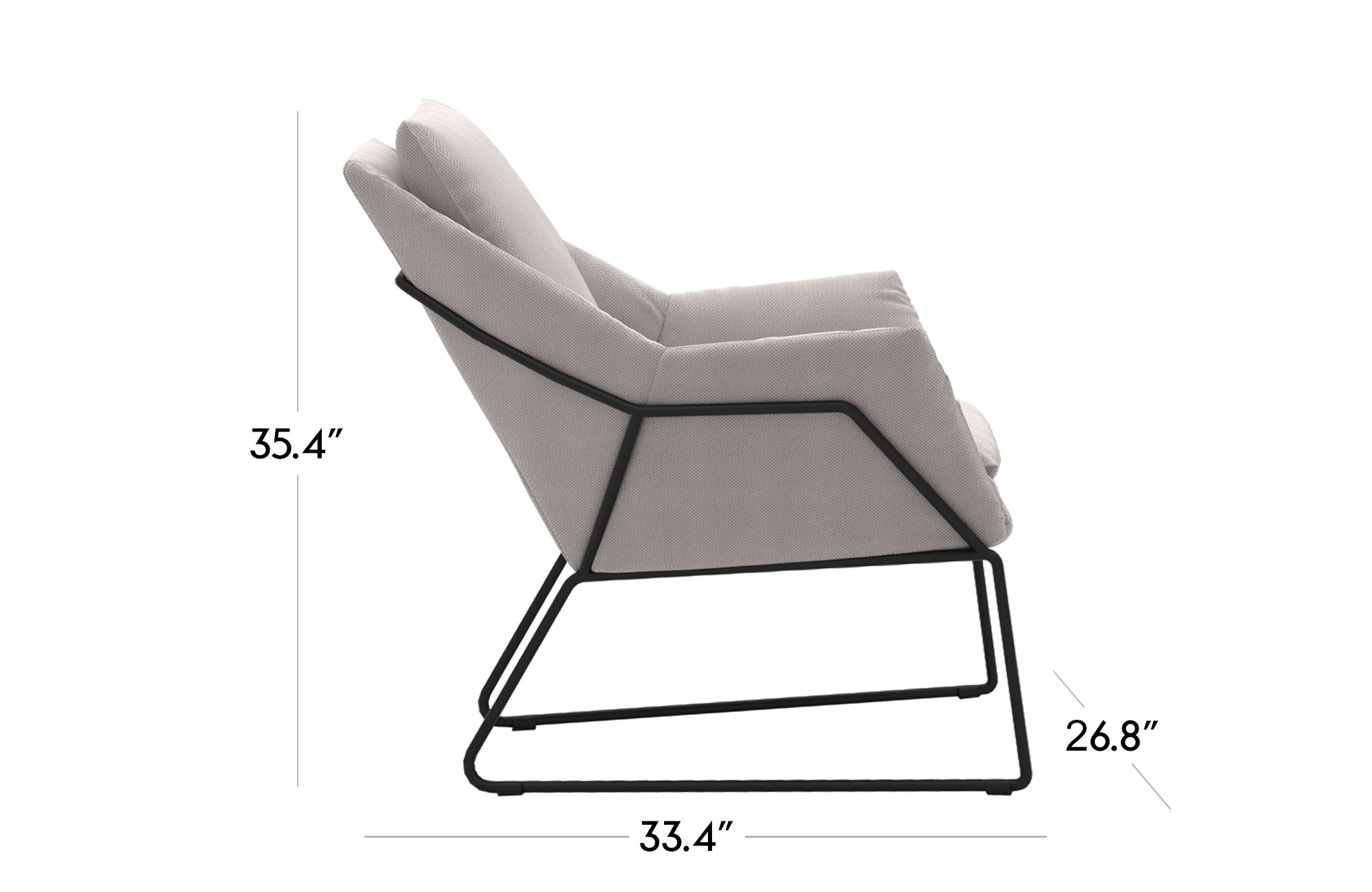 Melana Lounge Chair - White