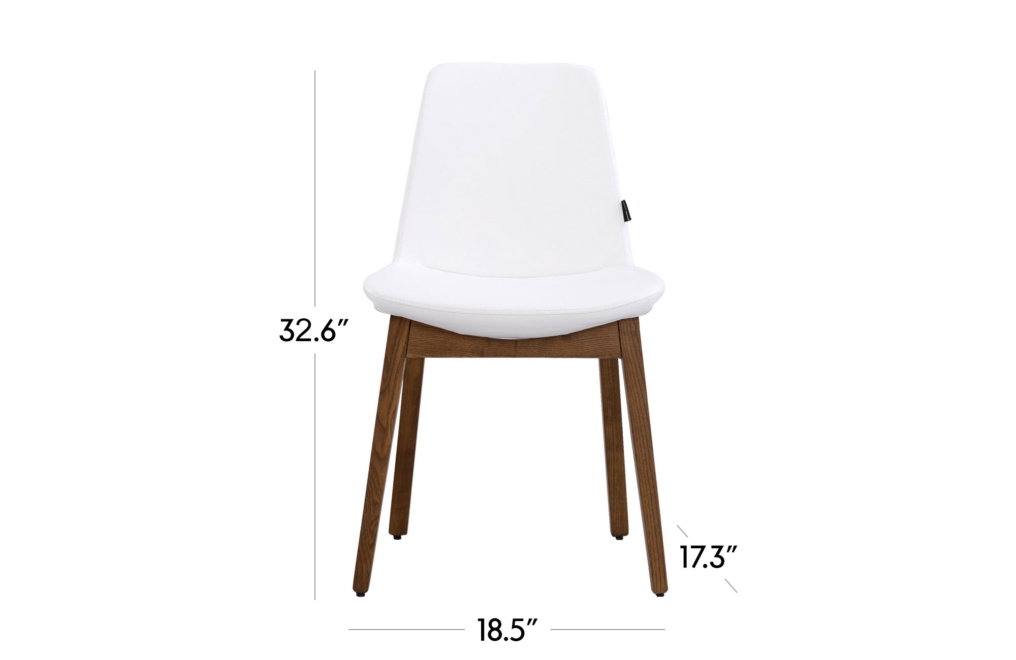 Paolo Dining Chair - Set of 2- Walnut