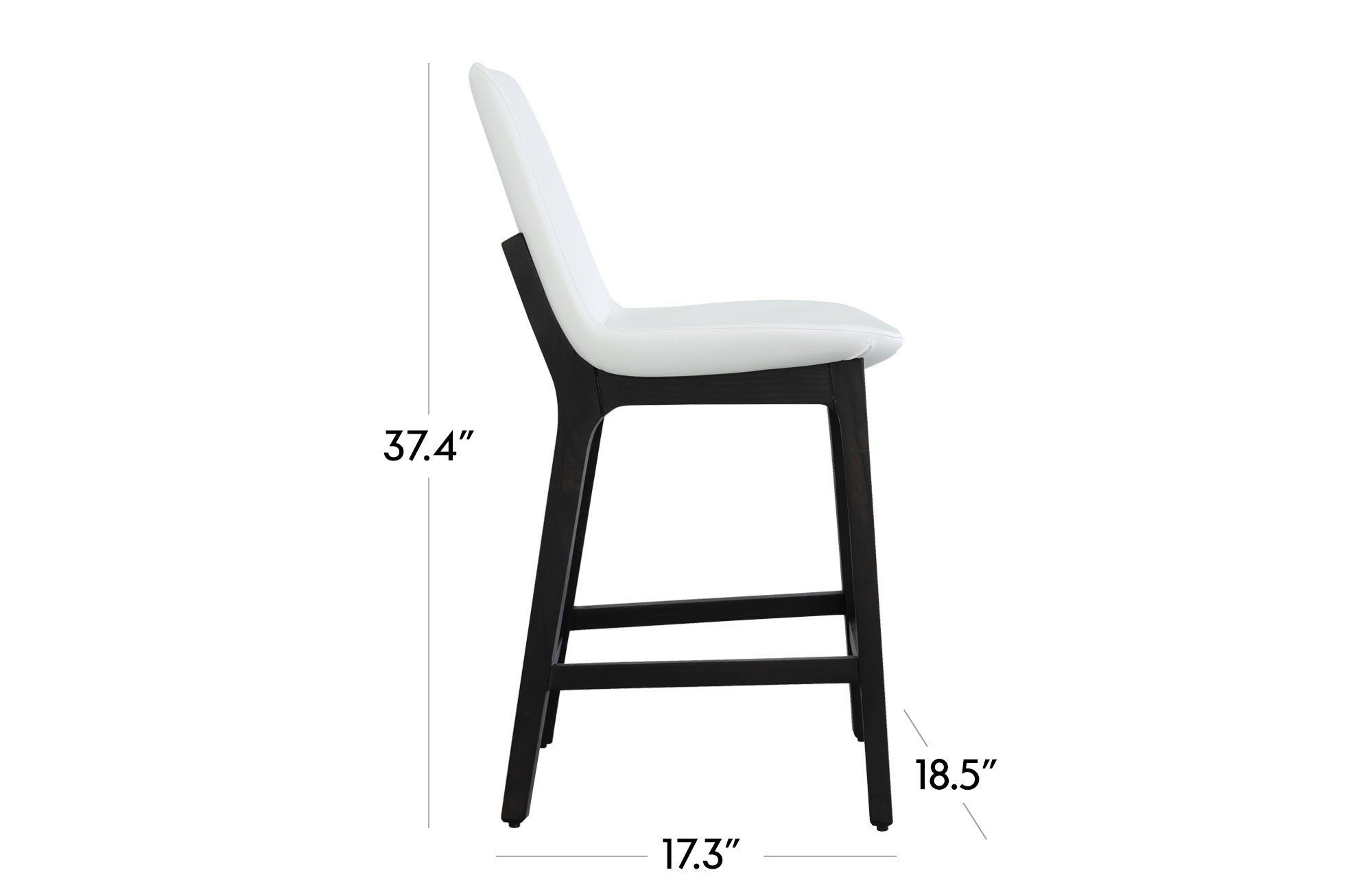 Paolo Counter Stool - Set of 2 - Black