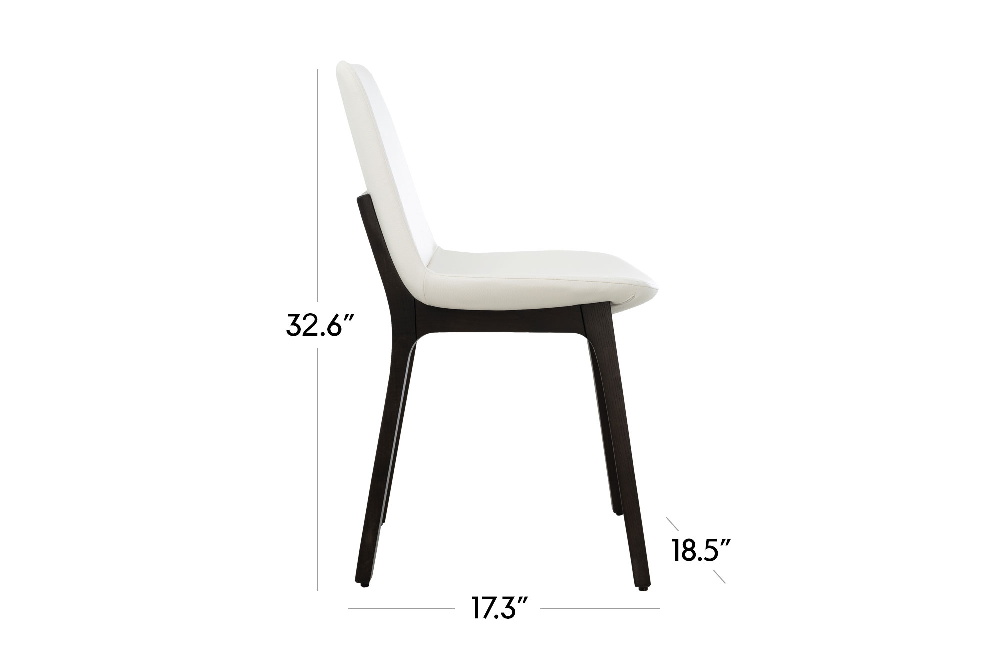 Paolo Dining Chair - Set of 2 - Black