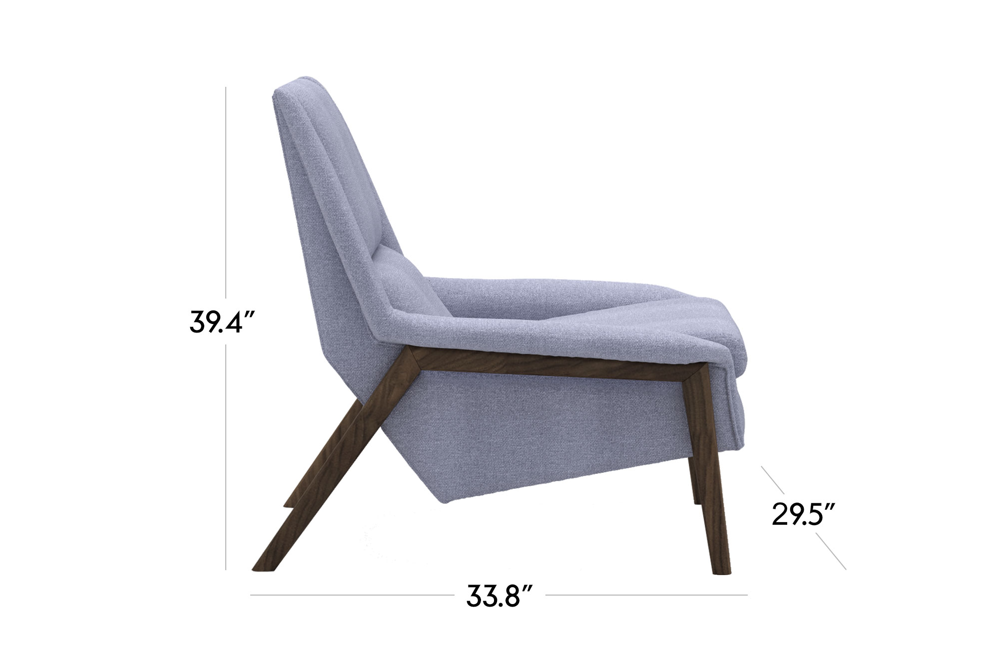 Venezia Lounge Chair - Light Blue
