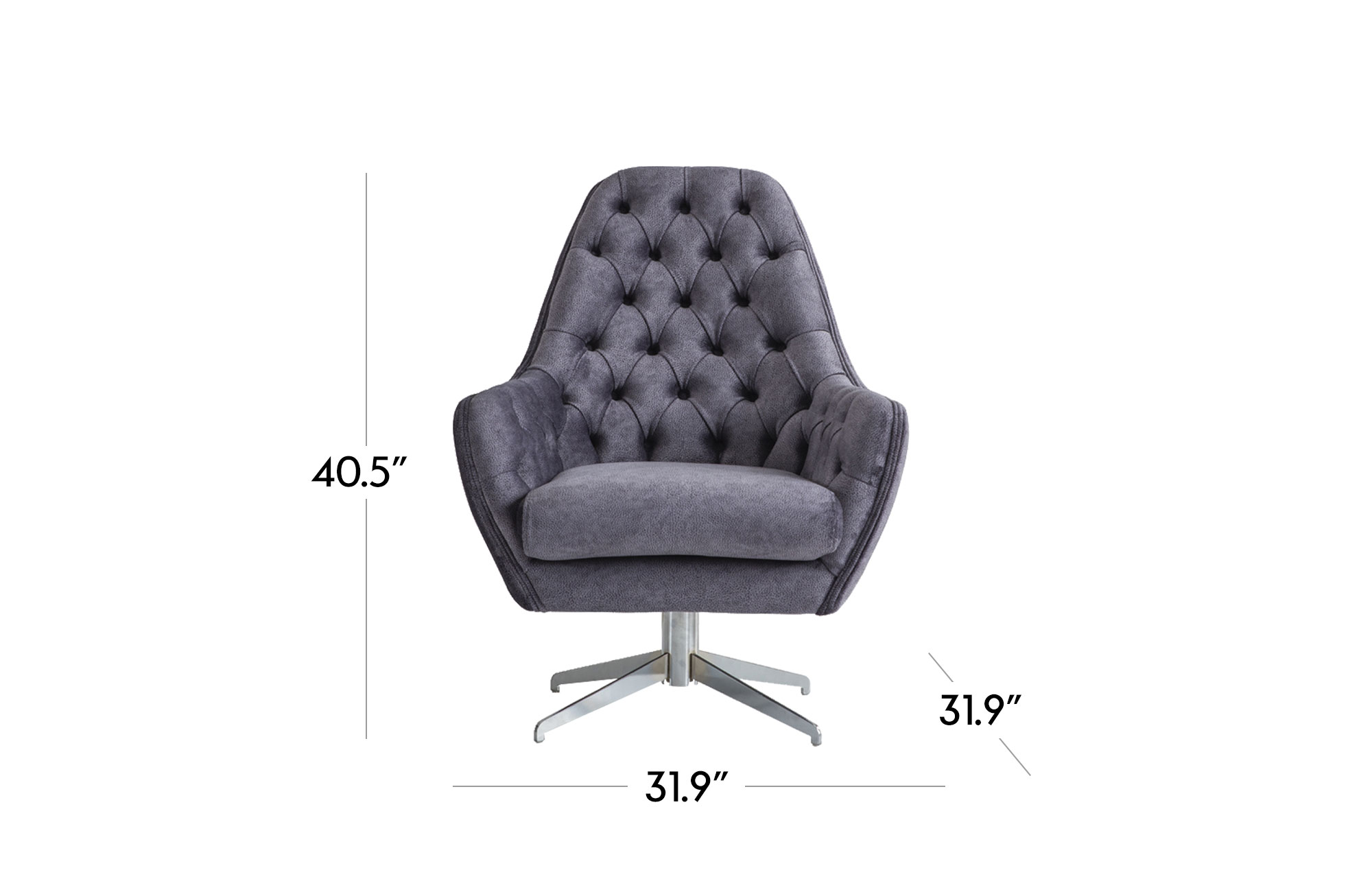 Ambra Lounge Chair - Dark