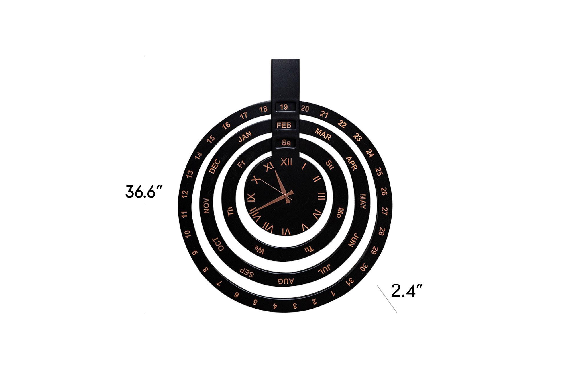 Date Clock - Black