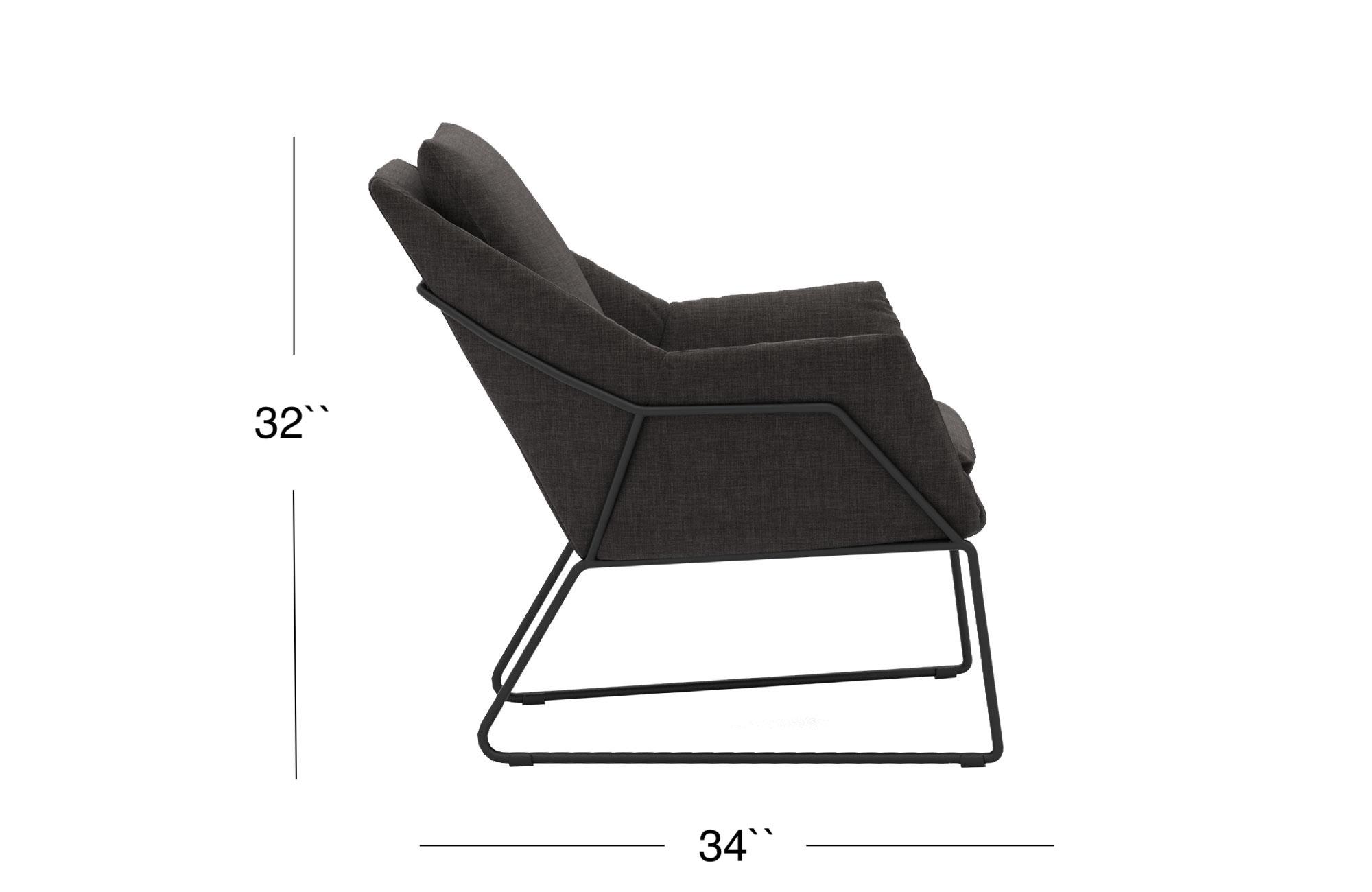 Melana Lounge Chair - Black