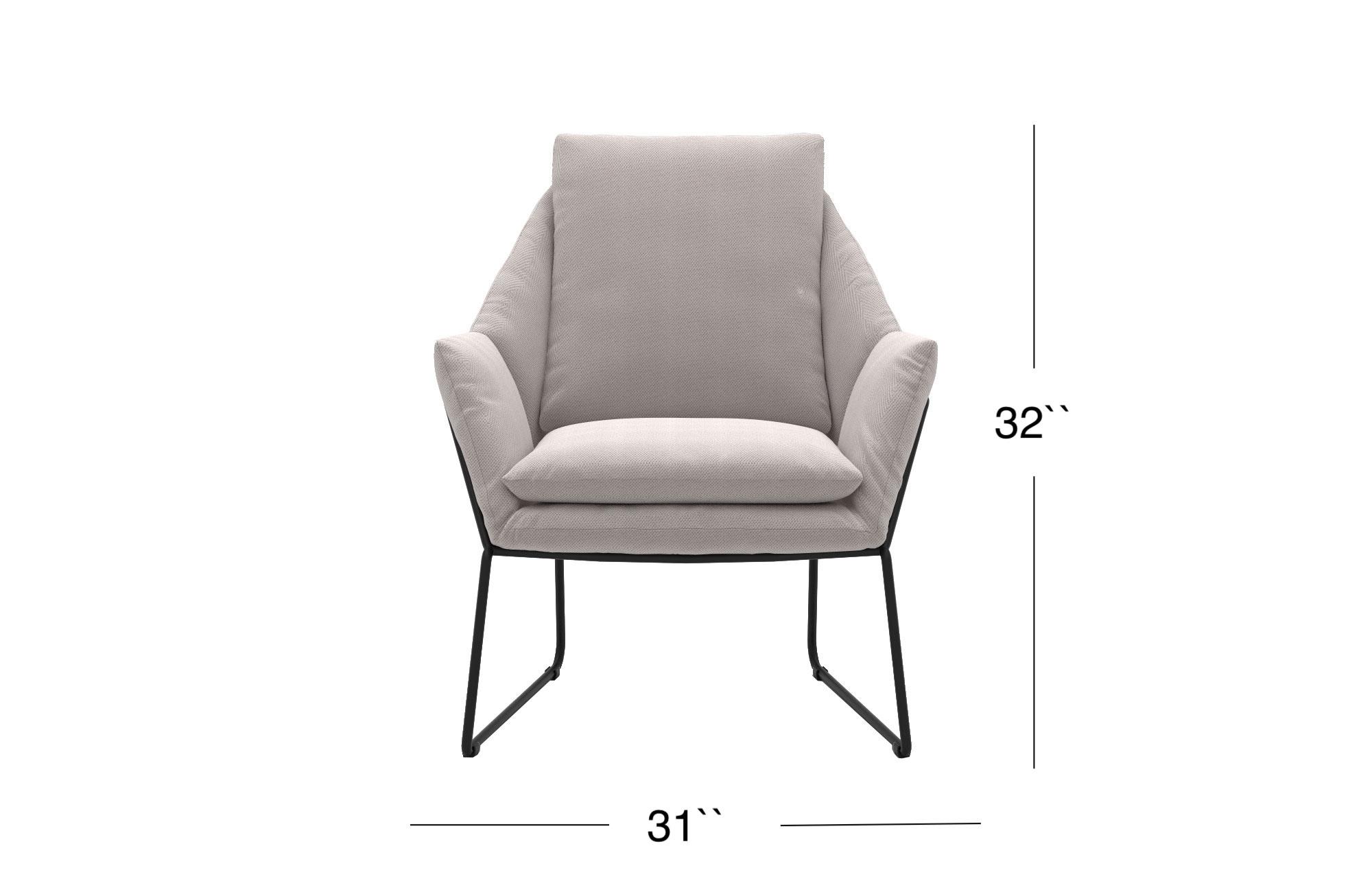 Melana Lounge Chair - White