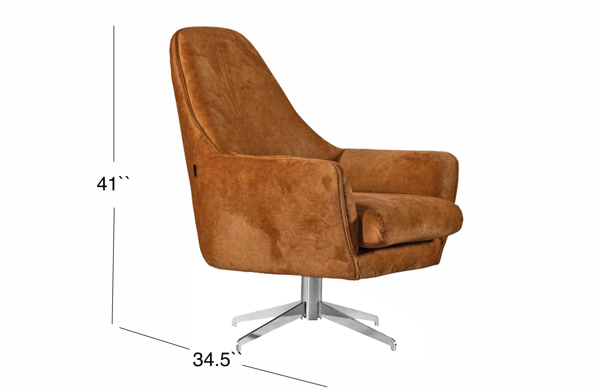 Ambra Lounge Chair - Burnt Orange