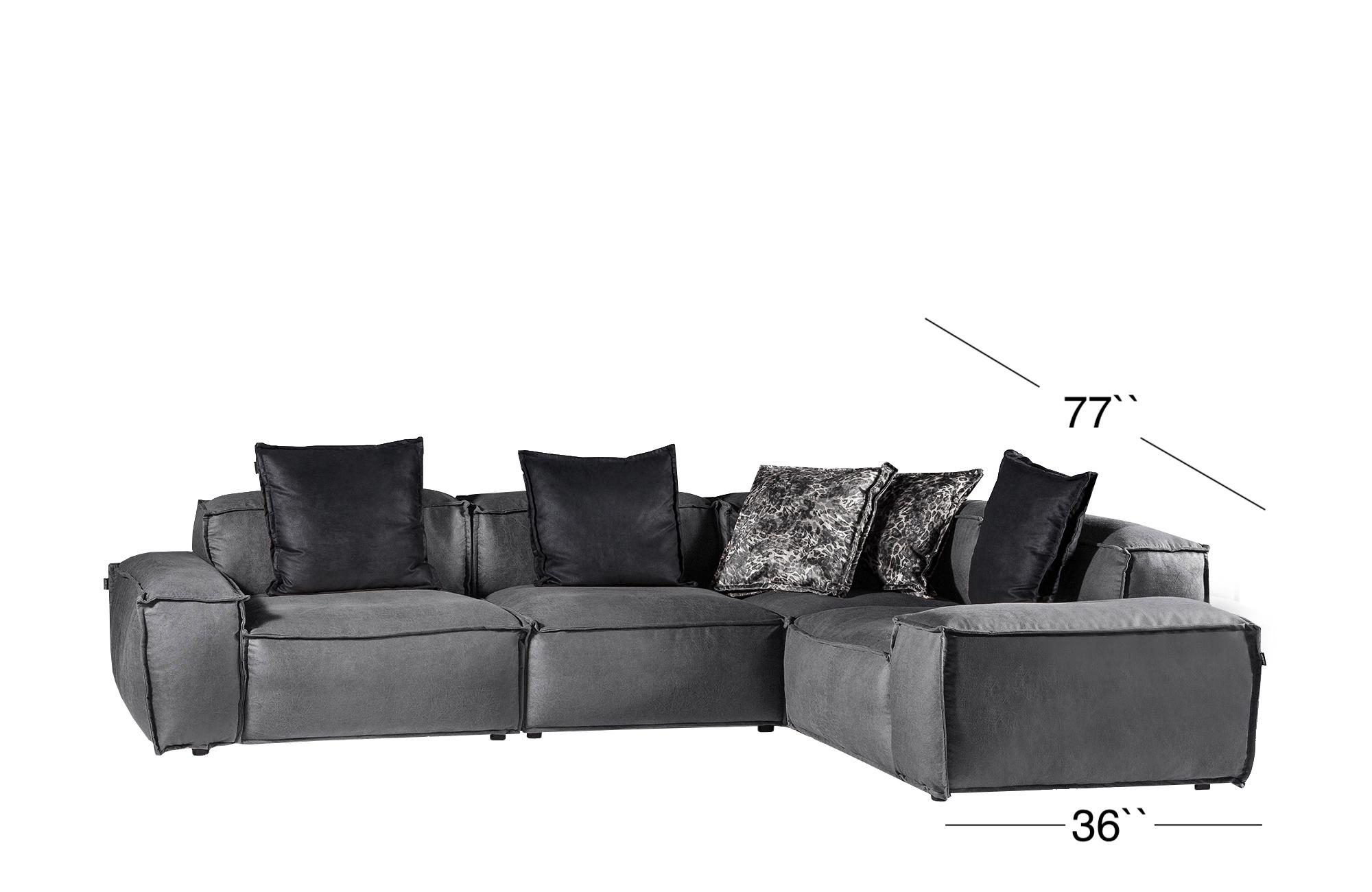 Elia Sectional Sofa - Gray