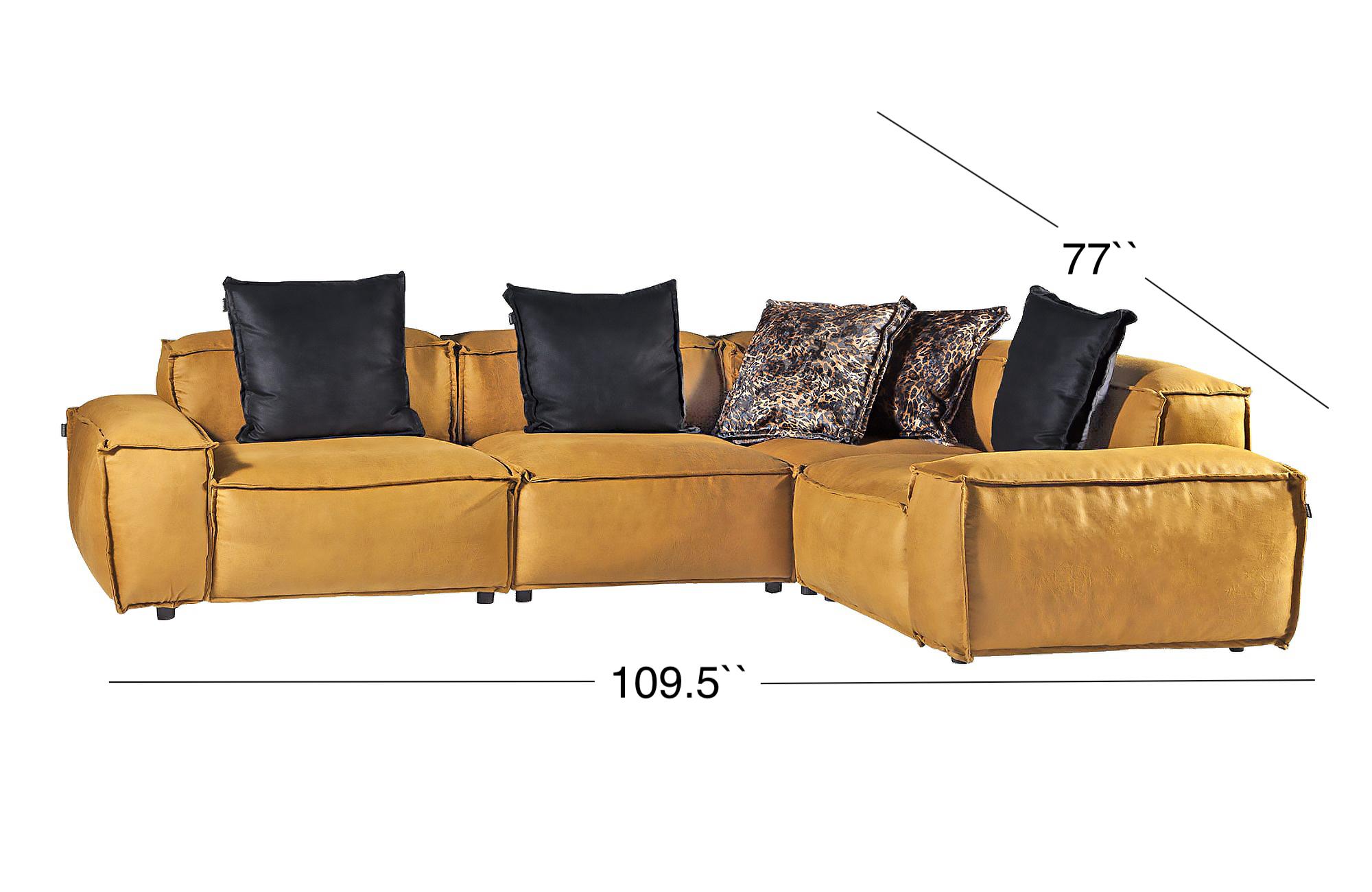 Elia Sectional Sofa - Golden