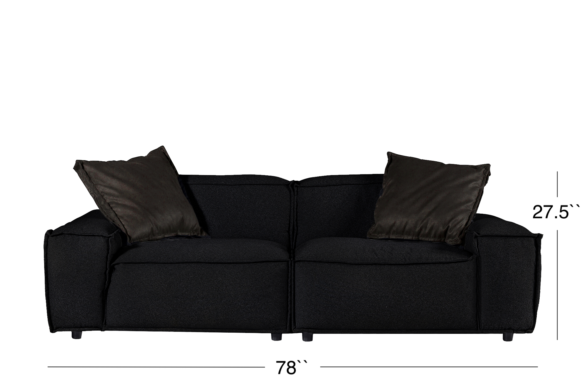Elia Loveseat - Black