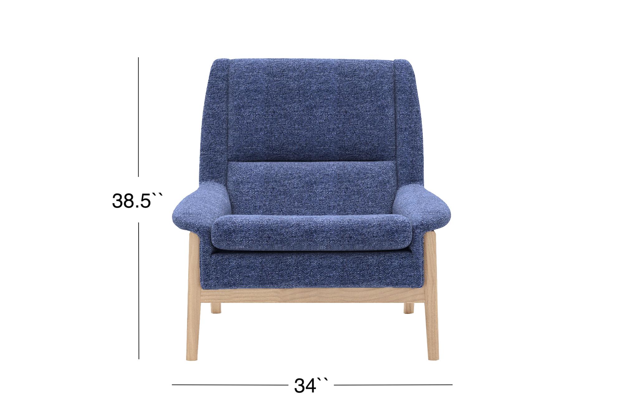 Venezia Lounge Chair - Denim Blue
