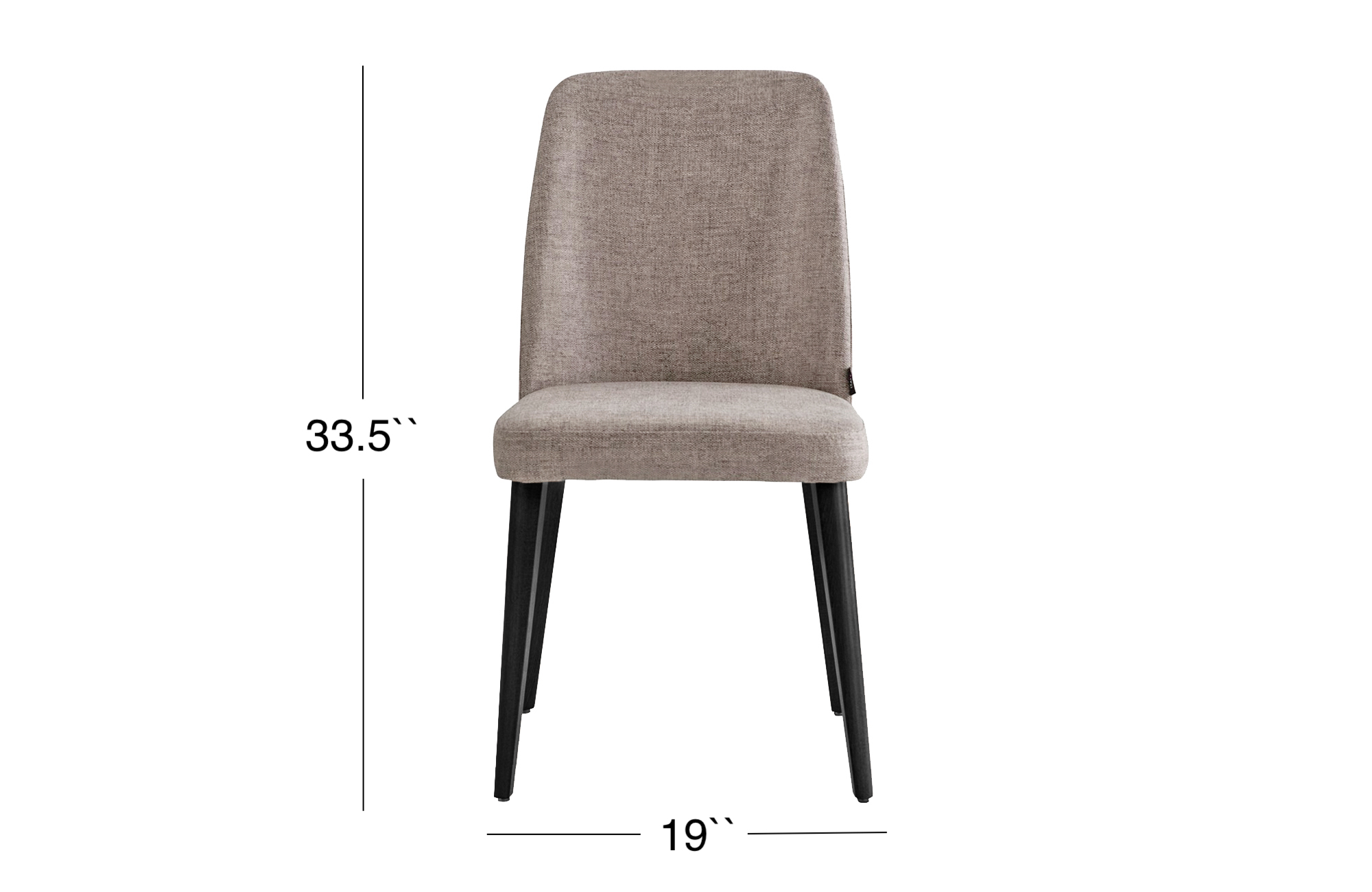 Milena Dining Chair - Black