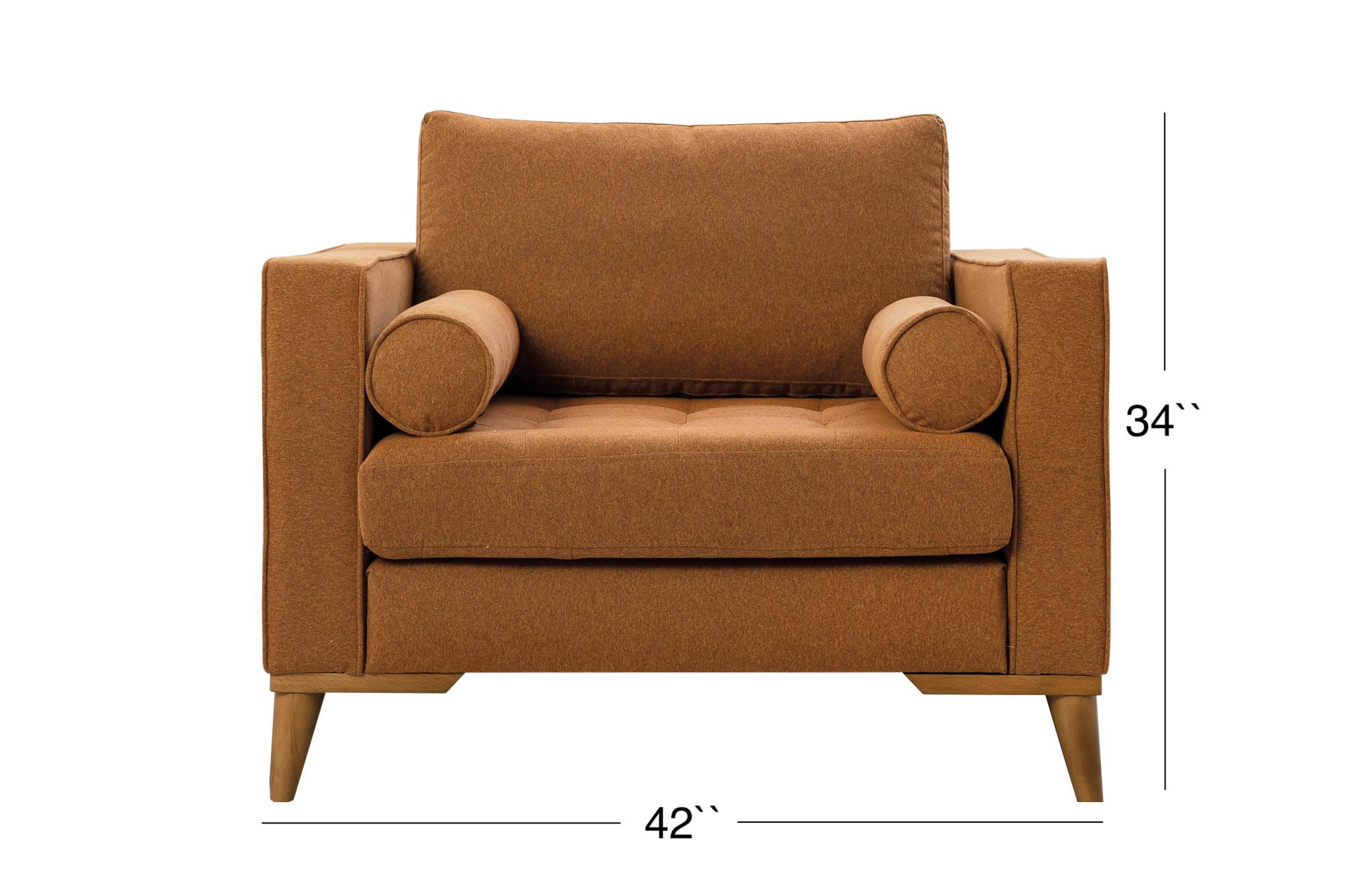 Midtown Lounge Chair - Caramel