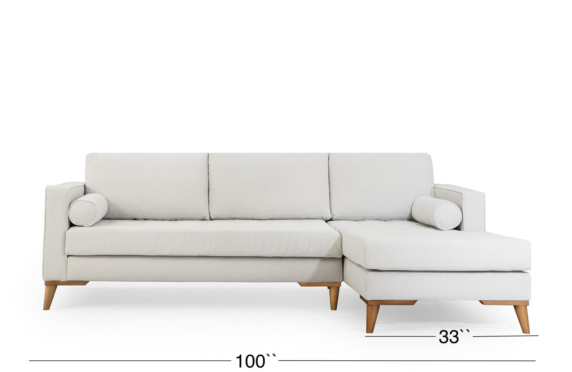Midtown Sectional Sofa - Cloud Gray