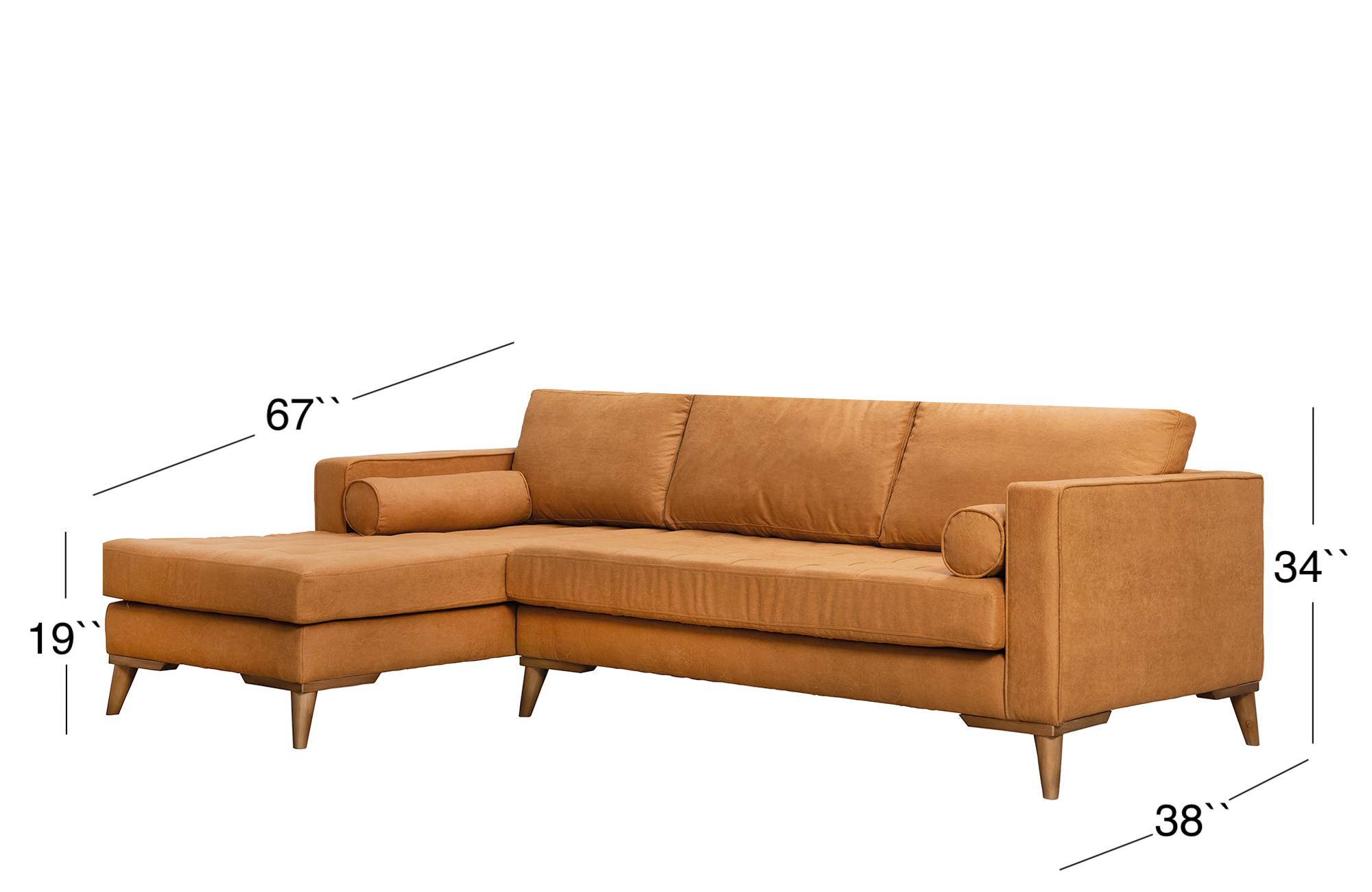 Midtown Sectional Sofa - Golden