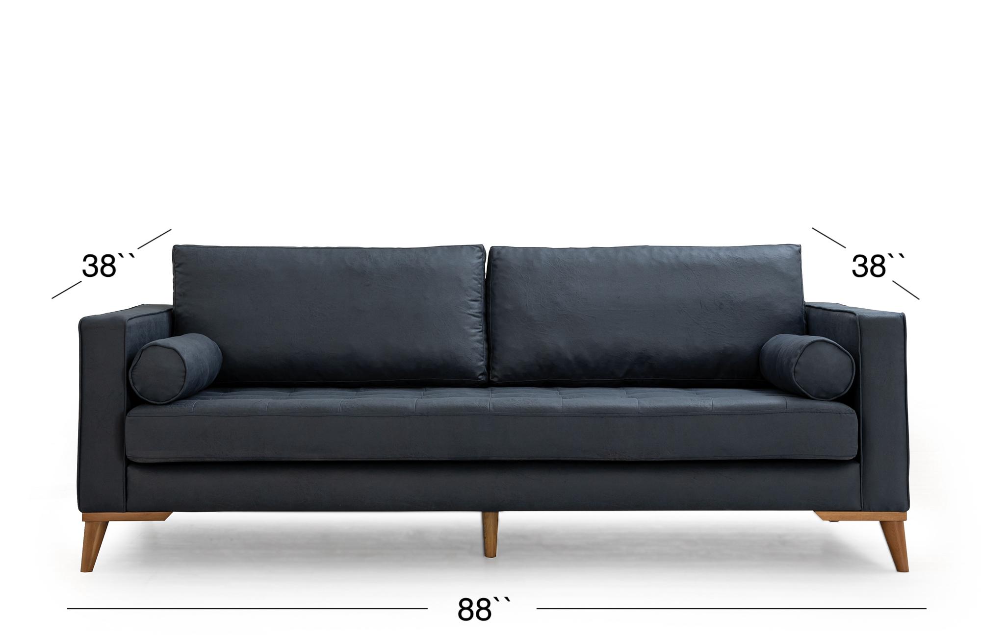 Midtown Sofa - Dark Royal Blue