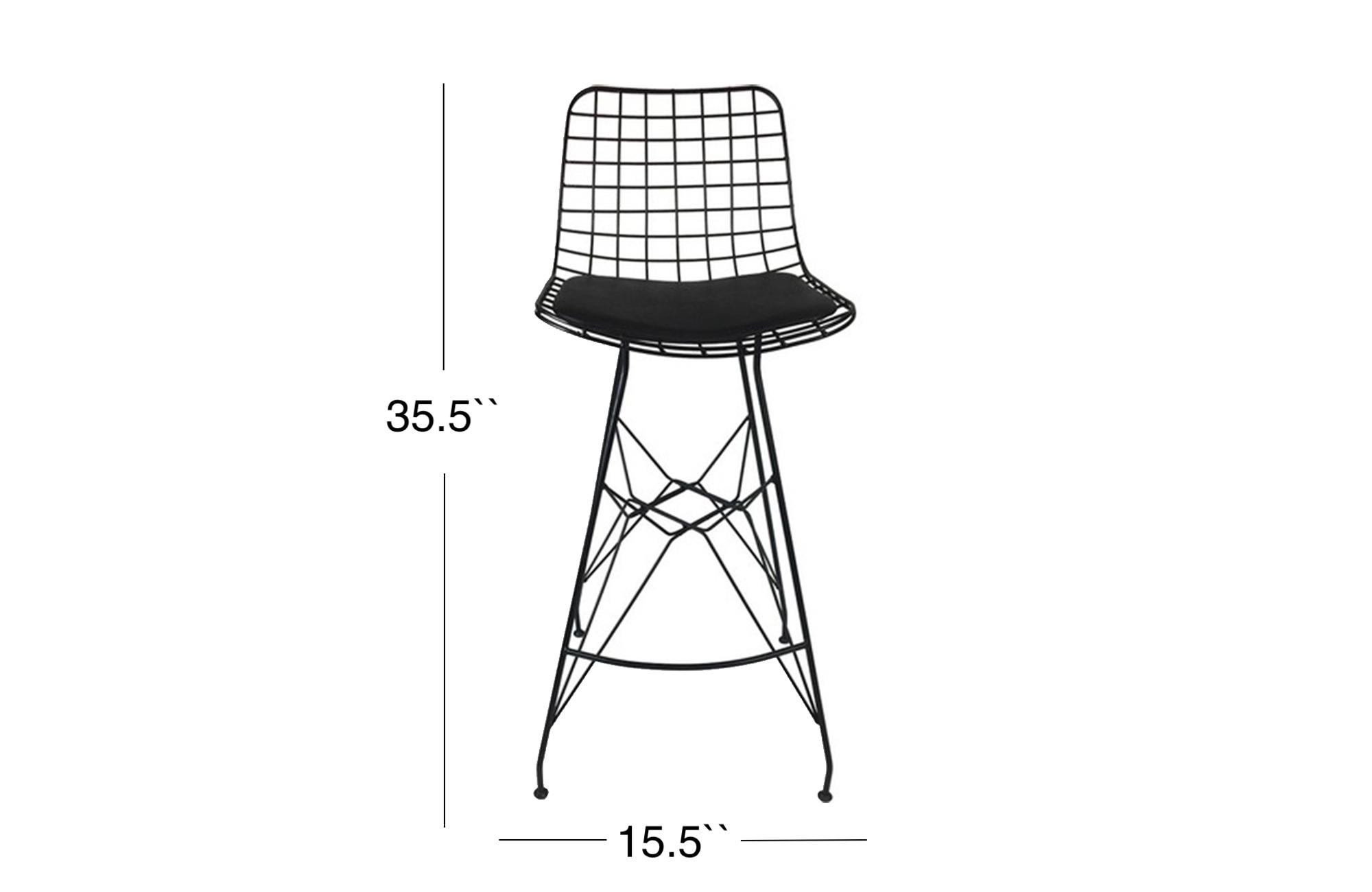 Cage Bar Stool - Black